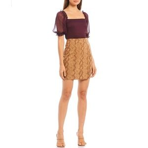Lucy Paris Chloe Faux Snakeskin Skirt - XS